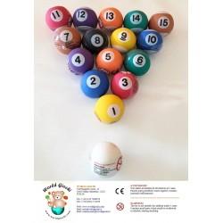 1 collezione completa di palle da biliardi Ø 49 ( 16 pezzi )